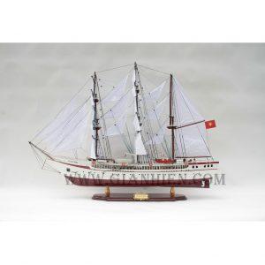 mô hình thuyền gỗ Lê Qúy Đôn
