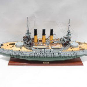 Mô Hình Thuyền Gỗ Lưu Niệm IMPERIAL RUSSIAN BATTLESHIP RETVIZAN 1902